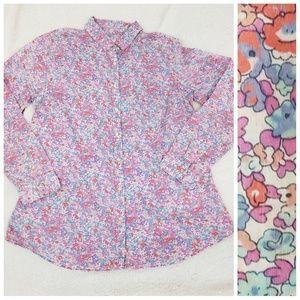 G.H. Bass floral long sleeve button down medium